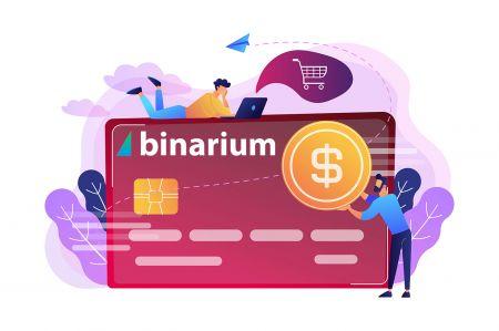 Come depositare denaro in Binarium