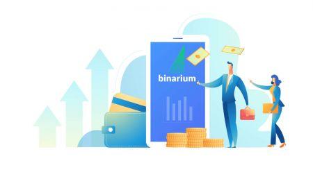 Come scambiare opzioni binarie e prelevare denaro da Binarium
